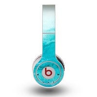 The Grungy Blue Watercolor Surface Skin for the Original Beats by Dre Wireless Headphones