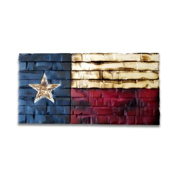 Texas State Flag Rustic Wood Decor 24x12