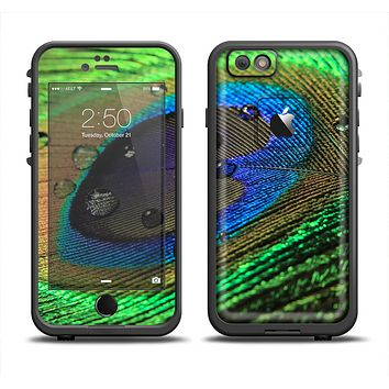The Watered Neon Peacock Feather Apple iPhone 6 LifeProof Fre Case Skin Set
