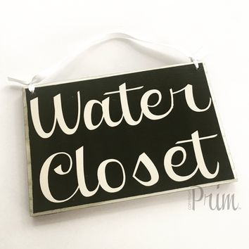 8x6 Water Closet Wood Sign