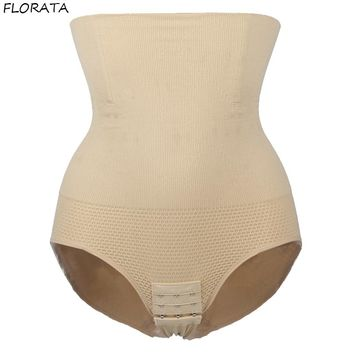 FLORATA Women High Waist Slimming Tummy Control Knickers Pants Pantie Briefs Shapewear Underwear  Body Shaper Lady Corset