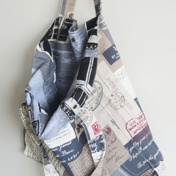 Romantic Letters - Postage Stamp eco friendly Tote Bag