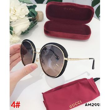 GUCCI Newest Fashion Woman Chic Summer Sun Shades Eyeglasses Glasses Sunglasses 4#