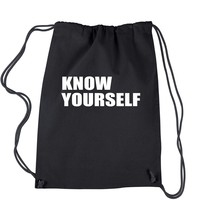 Know Yourself  Drawstring Backpack