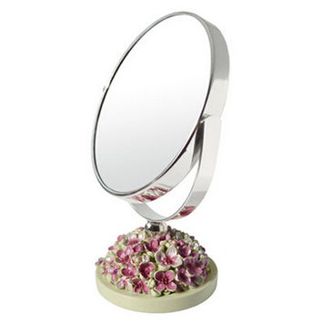 Continental Make-up Mirror 5-Inch Tabletop Two-Sided Cosmetic Mirror Green