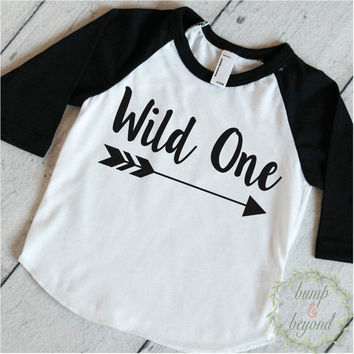 First Birthday Outfit Boy Wild One 1st Birthday Outfit Boy Birthday Shirt Arrow Hipster Raglan Toddler Boy Clothes 111