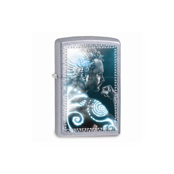 Zippo Mythical Man Street Chrome Lighter
