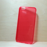 TPU Soft Silicone case for iphone 6 Plus (5.5 inches) - Transparent Red