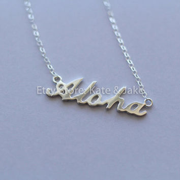 New pesronalized custom name word sterling silver 925 necklace
