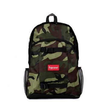Supreme Canvas Backpack Travel Bag College School Bag ca221bf07c0e9