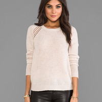Velvet Helia Cashmere Blend Sweater in Wheat