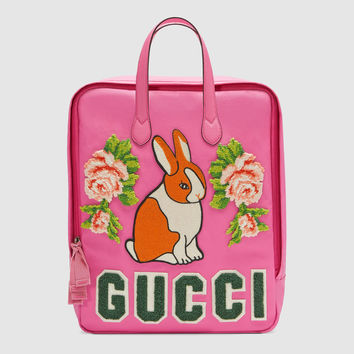 Gucci Children's canvas backpack with rabbit
