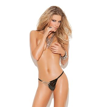 Plus Size Vinyl 'n Chain G-String