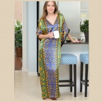 Pacific Jade Dress - Caftan/Kaftan - Gorgeous Pattern