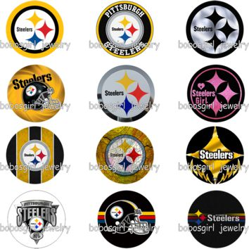 football Pittsburgh Steelers glass  Perfume Aroma Locket           photo    GS9403    phone holder