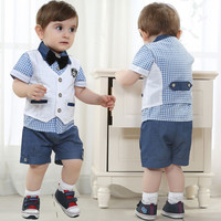 Summer Boys 4 PC Vest Outfit