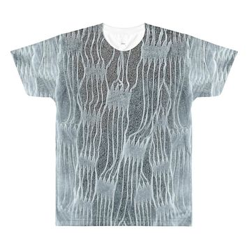 Paris METRO Couture: Weave All Over T-Shirt-Ice Blue