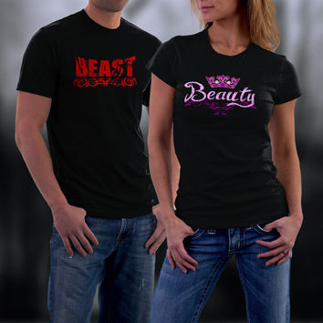 Beauty And Beast Matching Shirt, Couples Shirts, Couples Tshirts, His and Her Shirts, Wedding Anniversary Gift, Couples Gift