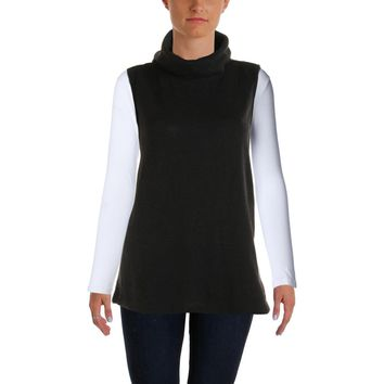 Bardot Womens Cowl Neck Sleeveless Pullover Top