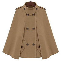 Aesir Casual Tweed Cape Coat(Camel) | LightInTheBox