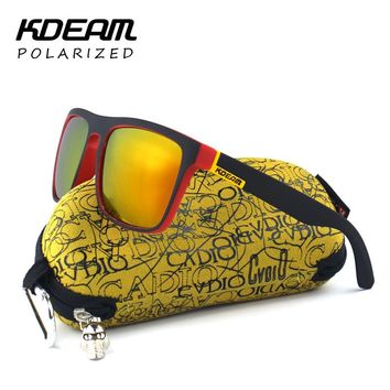 Sunglasses Highly Recommended KDEAM Mirror Polarized Men Square Sport Women UV g