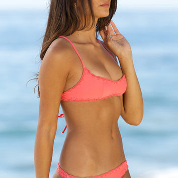 The Girl and The Water - Posh Pua 2014 - Hala Bikini Top Sunset - $76