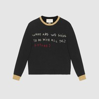 Gucci Coco Capitán embroidered Knitted top