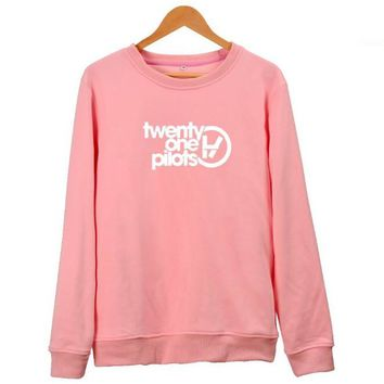 21 One Pilots Twenty One Pilots Pink Hoodie For Men Women Kawaii KPOP Street Wear Hip Hop Sweatshirts Sweat Homme Brand Clothing