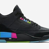 Air Jordan 3 Retro Black Colorful Sneaker Shoes