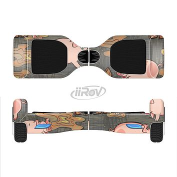 The Cartoon Muddy Pigs Full-Body Skin Set for the Smart Drifting SuperCharged iiRov HoverBoard