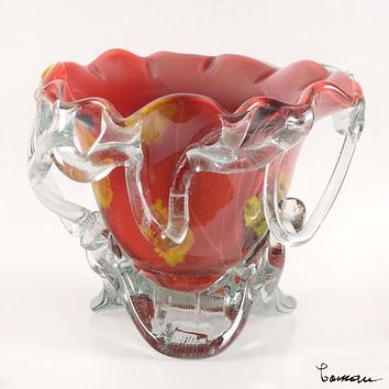 Glass Vase - Original Hand Blown Glass Sculpture by Misu Coman