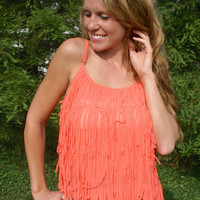 Indian Summer Top: Coral