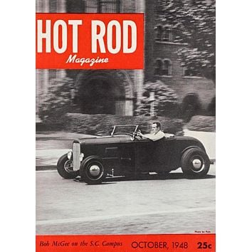 1932 Ford Hot Rod Magazine Cover Art Poster 11inx17in