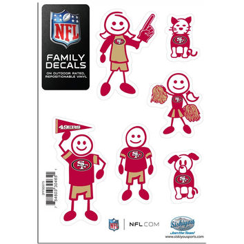 San Francisco 49ers Family Decal Set Small 2FFSD075