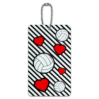 Volleyball Love ID Card Luggage Tag
