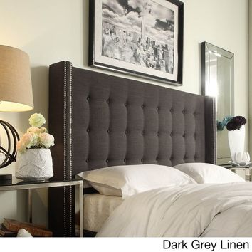 Marion Nailhead Wingback Button Tufted Queen Size Headboard by INSPIRE Q | Overstock.com Shopping - The Best Deals on Headboards