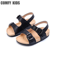 Comfy Kids Genuine Leather 2017 New Arrivals Child boys baby sandals shoes fashion flat with boys tennis sandals shoes