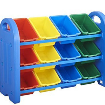 Plastic Storage Organizer with Bins