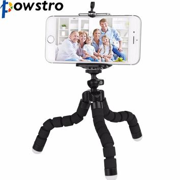 POWSTRO K Mini Portable Flexible Sponge Octopus Tripod Stand Mount With Holder For Phone Gopro Camera Tripode Drop Shipping