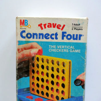 Vintage Connect Four Travel Board Game 1983