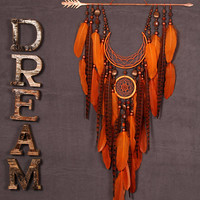 Arrow Dreamcatcher Moon Dreamcatcher Orange dreamcatcher sun dreamcatcher copper dream catchers native american Indian talisman boho decor