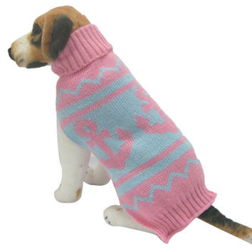 New Qualified Fashion pet dog sweater for autumn winter warm knitting crochet clothes for dog dig672