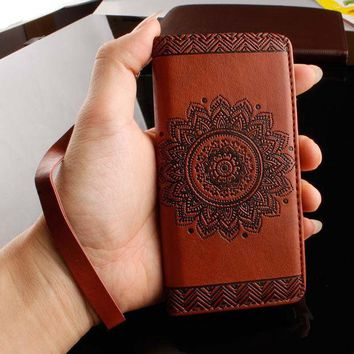 ICIKN7K Retro Flip Leather Wallet Style Phone Cases For iPhone 7 6 6S Plus  5S