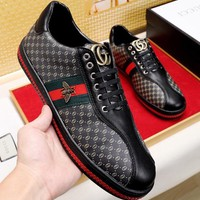 Gucci Man or Woman Fashion Edgy Embroidery Casual Shoes