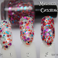 Madness is Catching - Custom Glitter Nail Polish Alice in Wonderland Mad Hatter