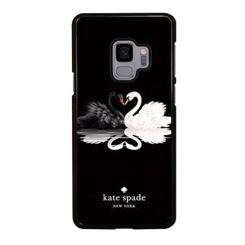 KATE SPADE BLACK WHITE SWAN Samsung Galaxy S4 S5 S6 S7 S8 S9 Edge Plus Note 3 4 5 8 Case Cover