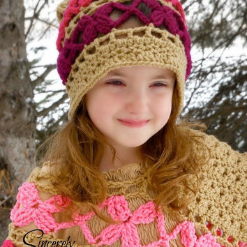 Butterfly Breeze Slouch Hat Crochet Pattern pdf