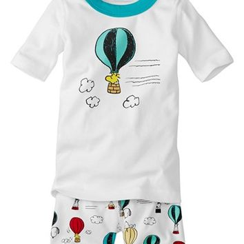 Hanna Andersson 'Peanuts® - Up, Up & Away' Organic Cotton Fitted Two-Piece Pajamas (Toddler Boys, Little Boys & Big Boys) | Nordstrom