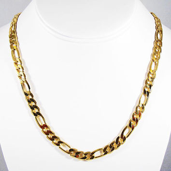 18k Gold Plated Figaro Chain /Bracelet 6mm