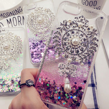 Handmade Quicksand Diamonds Cover Case for iPhone 5s 5se 6 6s Plus Gift + Gift Box 344
